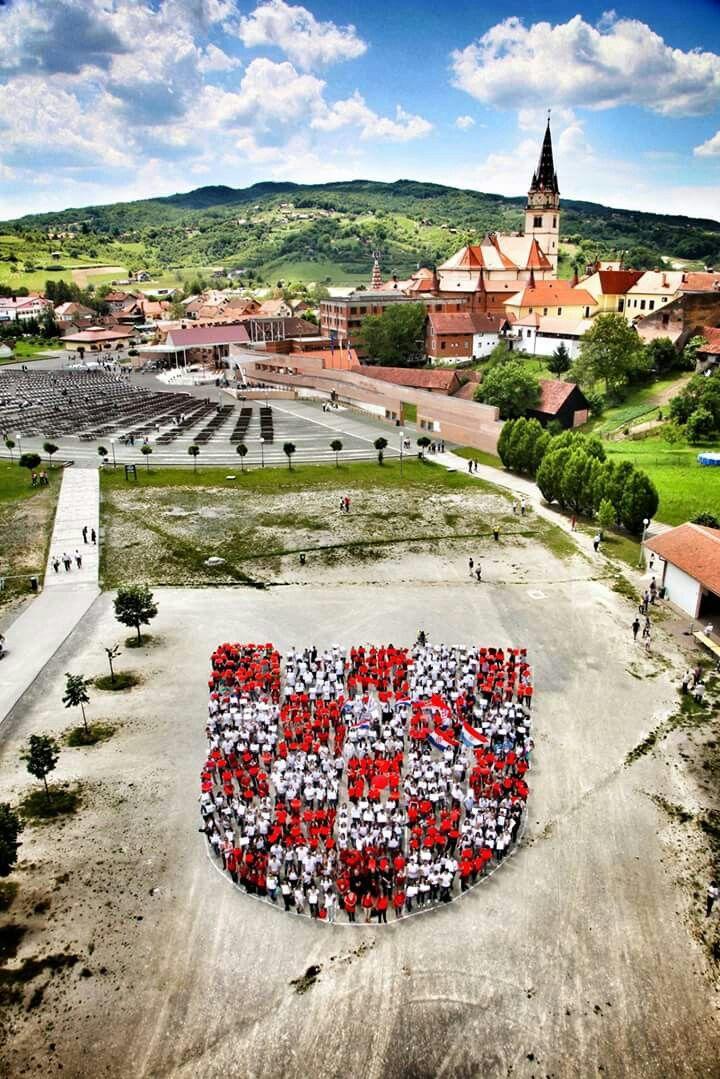 Hrvatska Kroatien Kroatien Flagge Zagreb