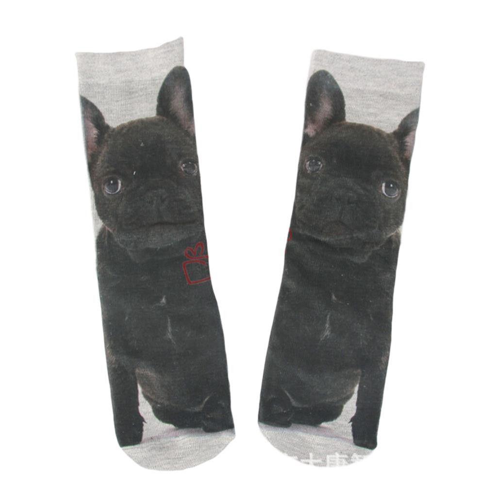 1 Pair 3D Printed Cat Dog Socks Women Men Unisex Cute In Tube Socks Multiple Colors Cotton Casual Animal Pattern Sock