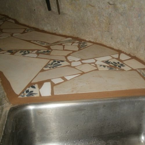 Tile Countertops, Mosaic Tiles, Bathroom