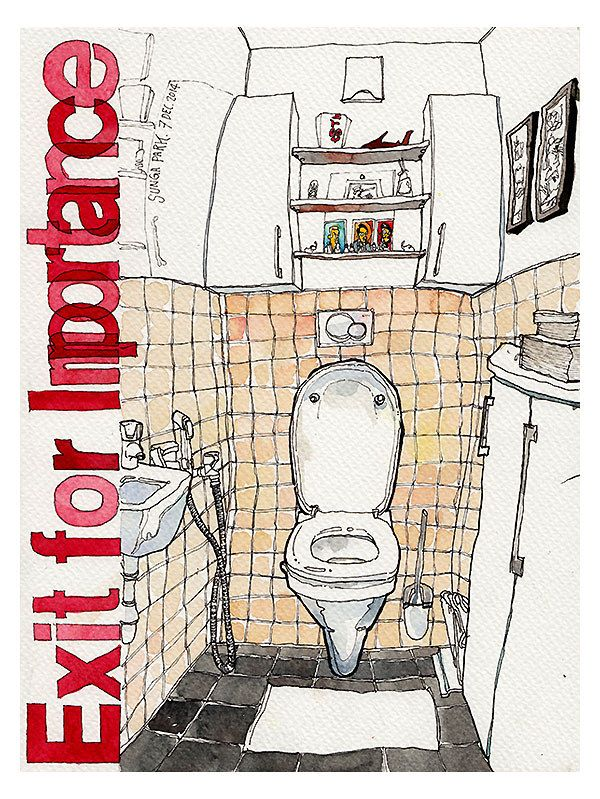 Adorable Toilet Sketch For A Friend Sketches Watercolor