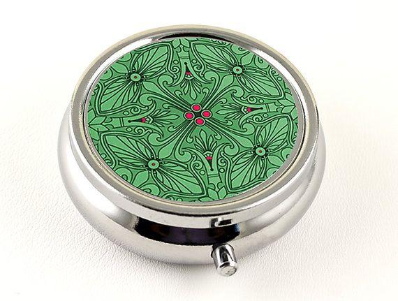 Elegant Pill Box or Wedding Ring Box, Emerald Green and ...