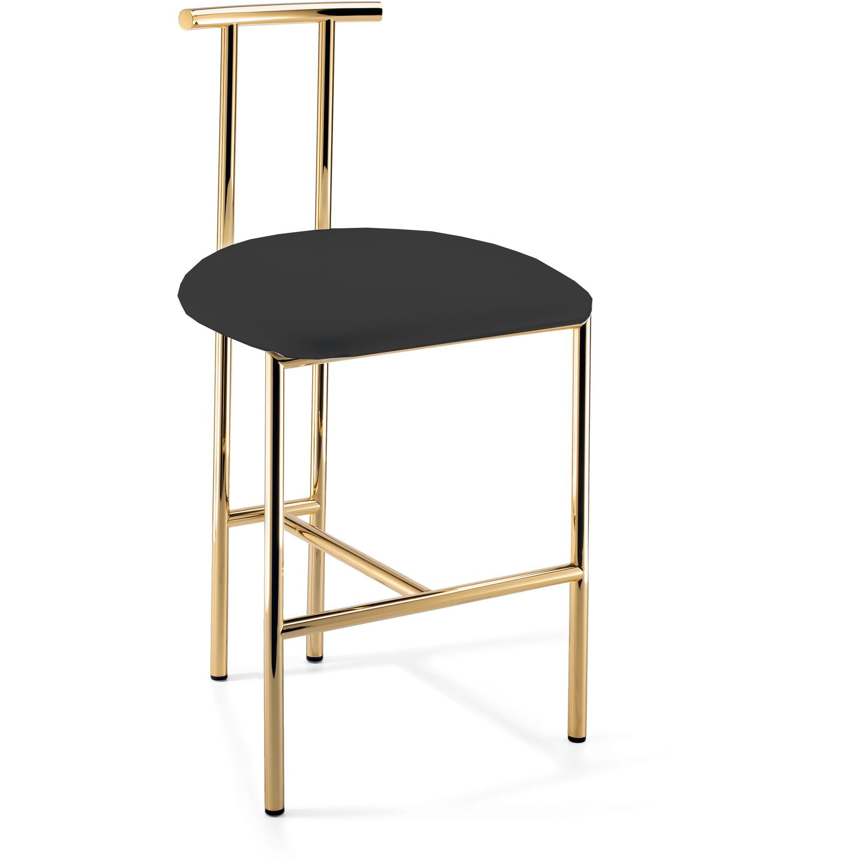 Wondrous Dwba Vanity Bar Stool Bench With Brass Metal Legs Back Short Links Chair Design For Home Short Linksinfo