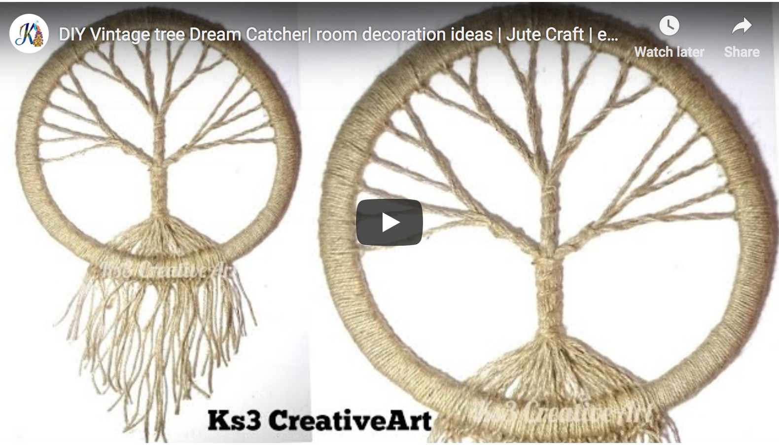 DIY Vintage tree Dream Catcher by Ks3 CreativeArt images