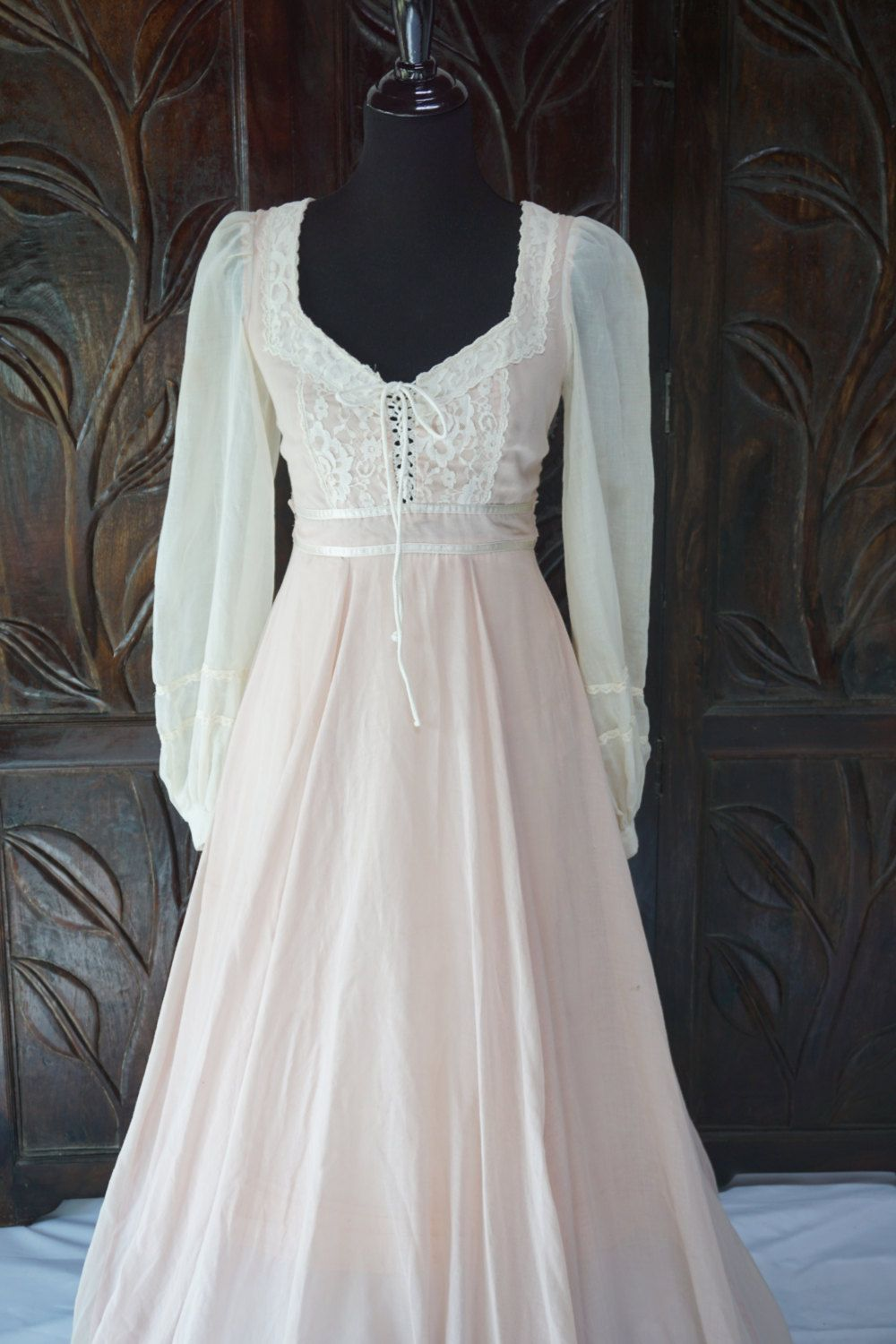 Reserved for Miss Bunny: Vintage Ivory & Pink Gunne Sax Jessica ...