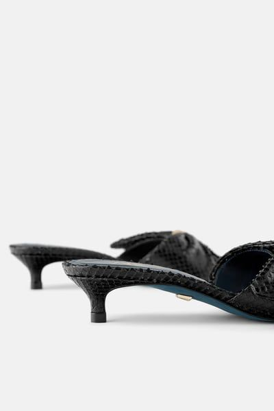 Blue Collection Leather Kitten Heeled Sandals Kitten Heel Sandals Kitten Heels Heels