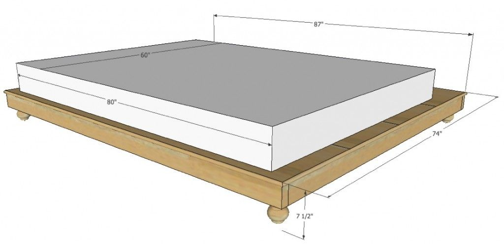 Madison Bed Platform Bed Frame Sizes Full Size Bed Frame Queen