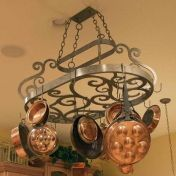 Neo Pot Rack shown in French Bronze by 2nd Avenue Lighting