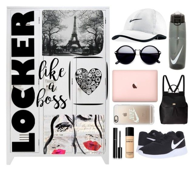 """""""Locker Decor"""" by rhiannonpsayer ❤ liked on Polyvore featuring interior, interiors, interior design, home, home decor, interior decorating, Chanel, Lu West, Oliver Gal Artist Co. and WALL"""