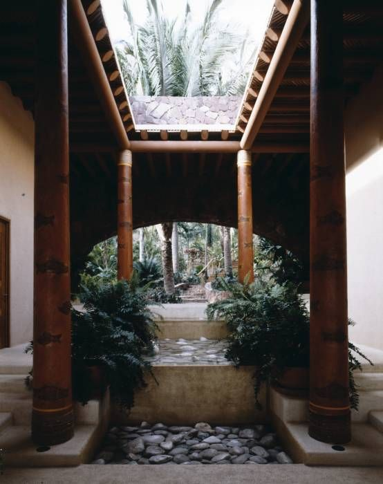 Casa Cuixa: Pasillo, hall y escaleras de estilo translation missing: mx.style.pasillo-hall-y-escaleras.tropical por BR  ARQUITECTOS