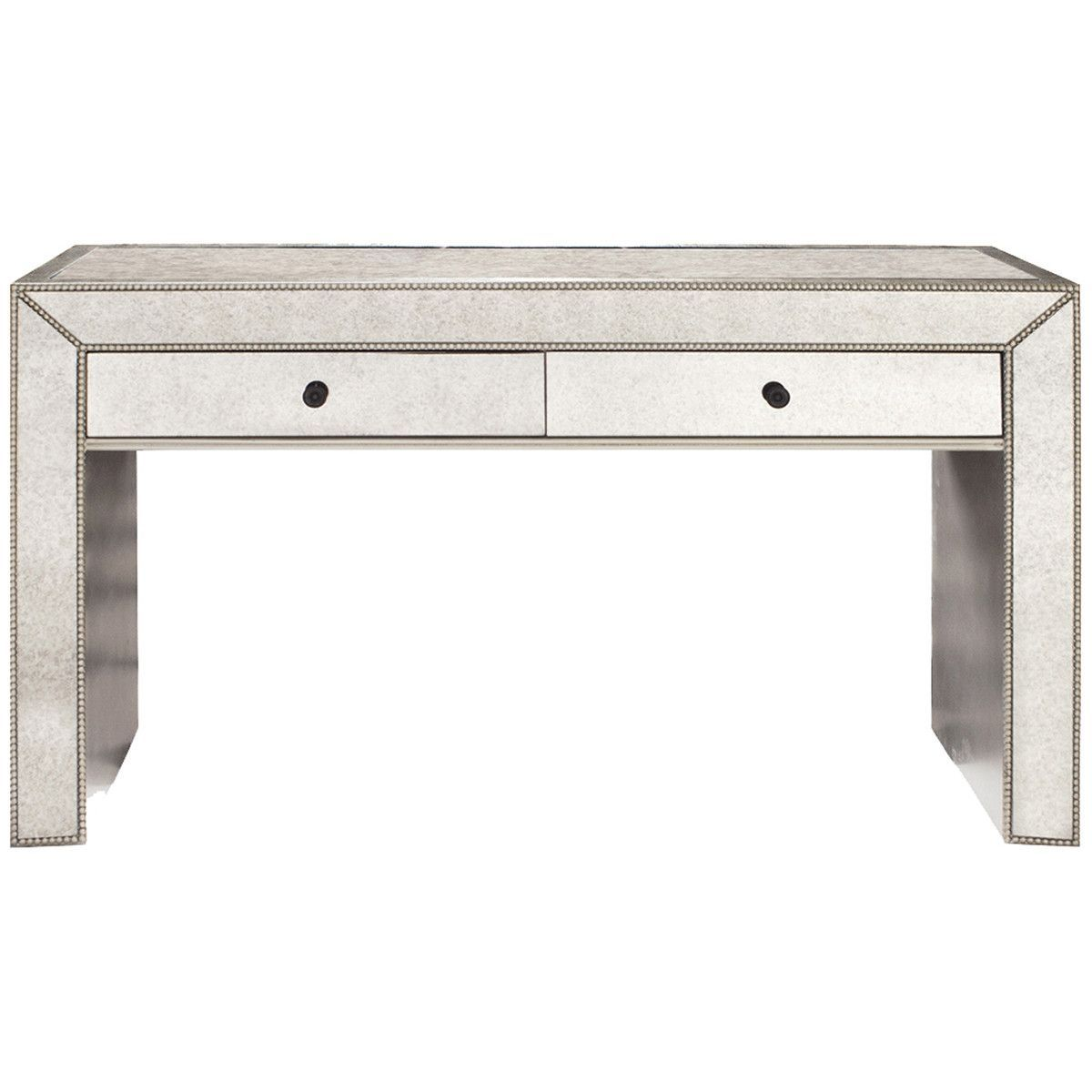 Howard elliott antiqued mirrored console table console tables howard elliott antiqued mirrored console table geotapseo Image collections