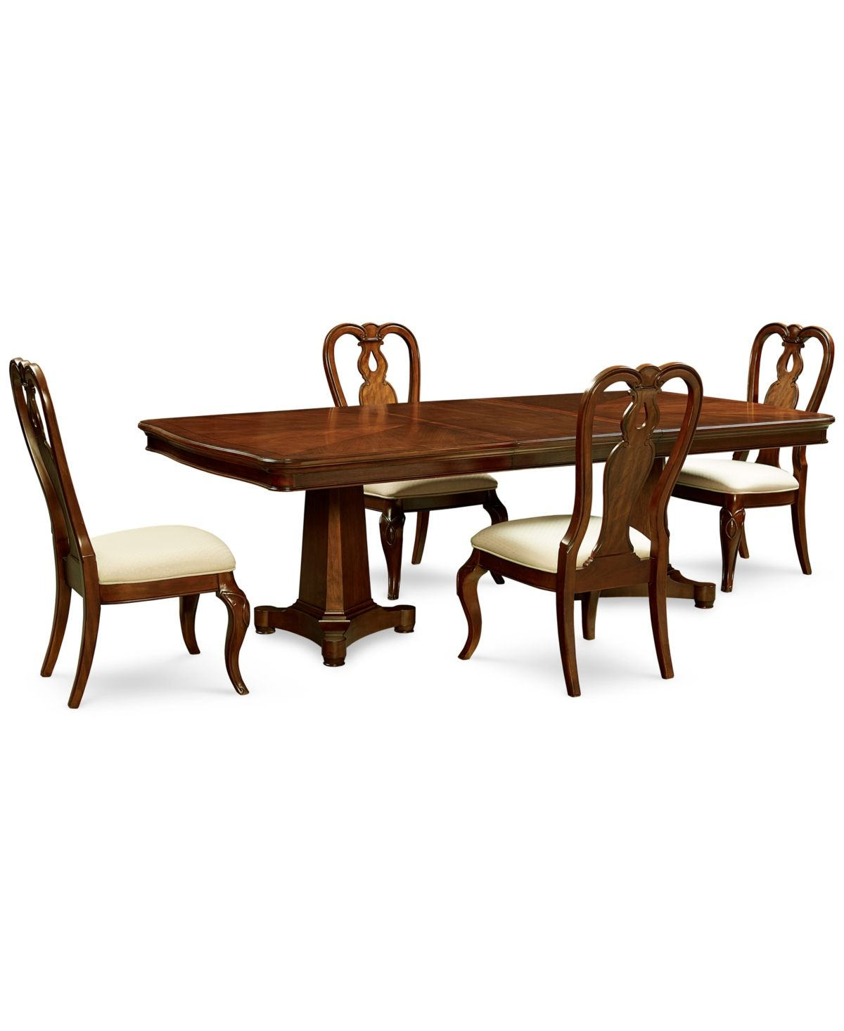 Bordeaux Pedestal Round 7 Pc Dining Room Set