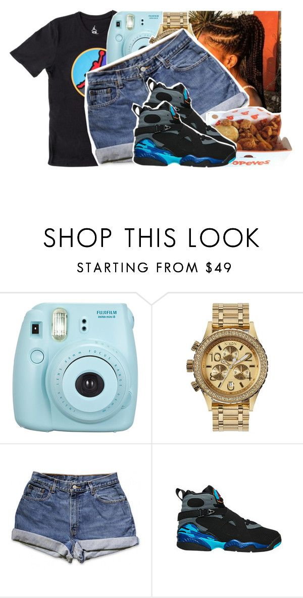 """quick one🙂"" by daeethakidd ❤ liked on Polyvore featuring Fujifilm and Nixon"