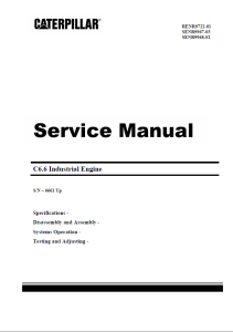 pdf caterpillar c6.6 diesel engine service shop manual (s