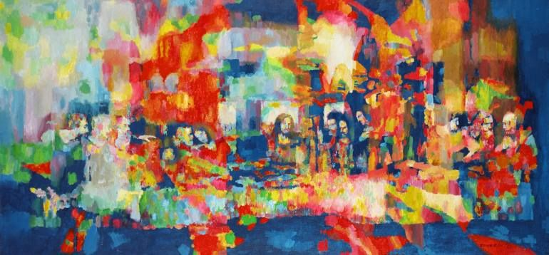 Famoso Arte de Jes/ús decoraci/ón del hogar UIOLK Carteles art/ísticos de la /última Cena de Leonardo da Vinci y Pinturas en Lienzo en la Pared Cuadro de Pared