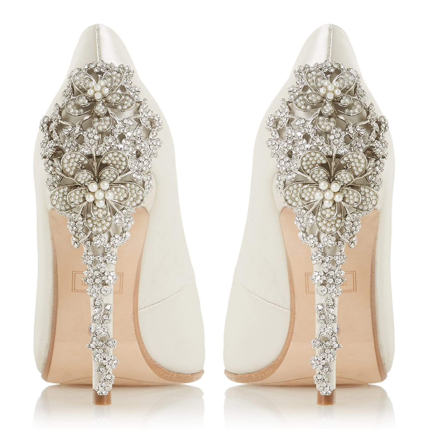 Dune Bridal Collection Be Wedd Embellished Stiletto Court Shoes