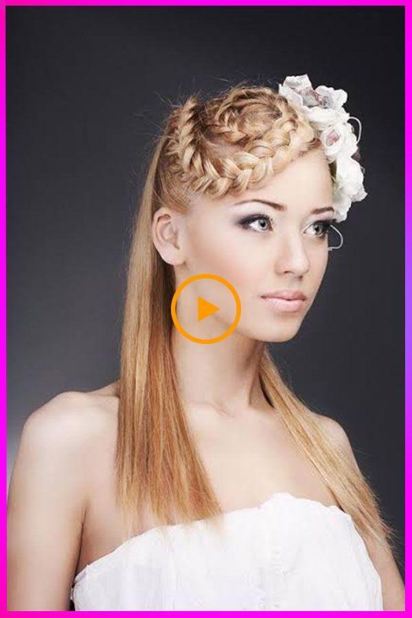 Superbes coiffures de mariage longues pour femmes avec visage rond