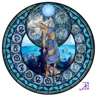 Kida's Stained Glass Window by *Akili-Amethyst on deviantART