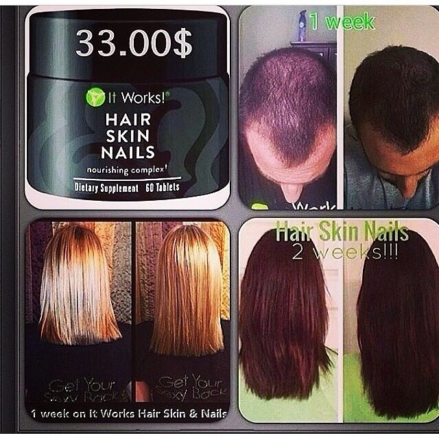 Growth results after using It Works! Hair, Skin Nails vitamin. You ...