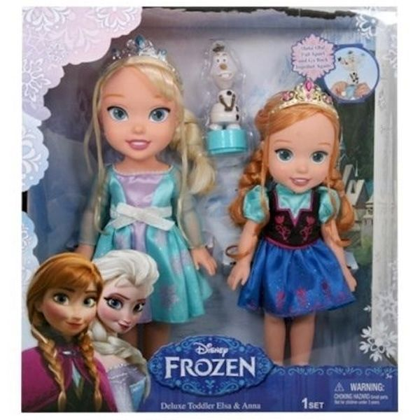 New Disney Store Frozen Deluxe Doll Gift Set-Anna /& Elsa Sing