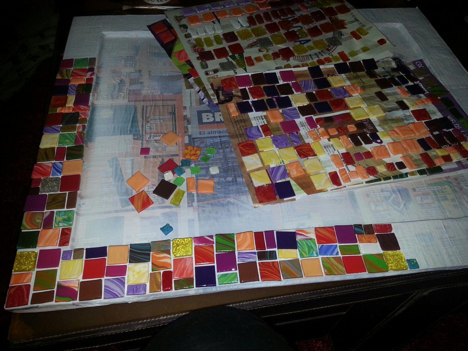 Montar mosaico... | Marcos mosaico | Pinterest