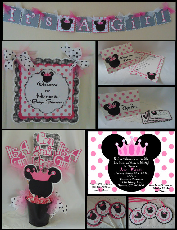 minnie mouse banner minnie baby shower minnie mouse party minnie mouse decorations minnie mouse birthday DIY or ready to hang