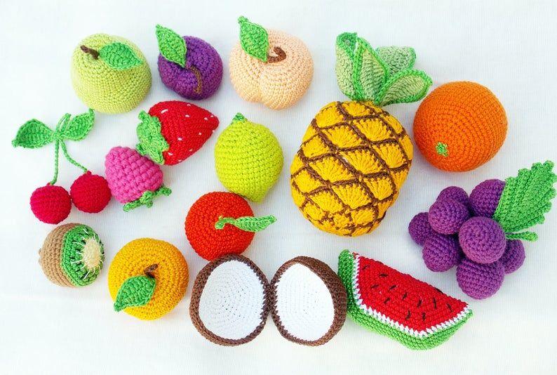 Amazon.com: montessori baby toys set of 7 pretend play food ... | 534x794