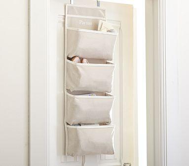 I Think I Prefer The More Neutral Color Khaki Harper Over Door Storage Potterybarnkids Door Storage Baby Furniture Pottery Barn Kids
