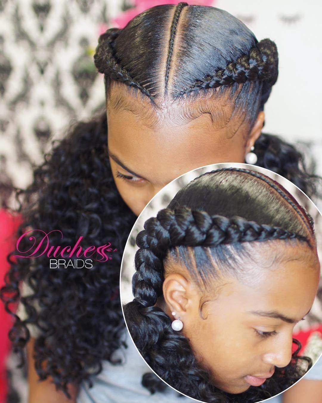 Two Braid Cornrow Hairstyles