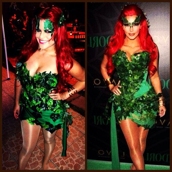 pre halloween sale off poison ivy kim kardashian costume short mini dress poison ivy costume villain costume