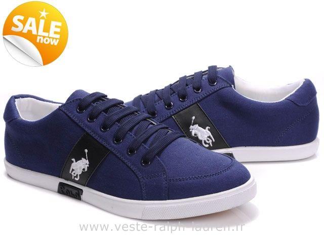 Officiel Ralph Lauren chaussures mode style usa bleu mark blance Chaussures  Beverly Hills Polo Club