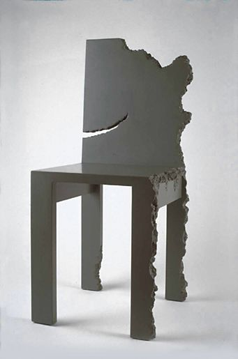 NOTHING CONTINUES TO HAPPEN CHAIR BY HOWARD MEISTER 1980 USA