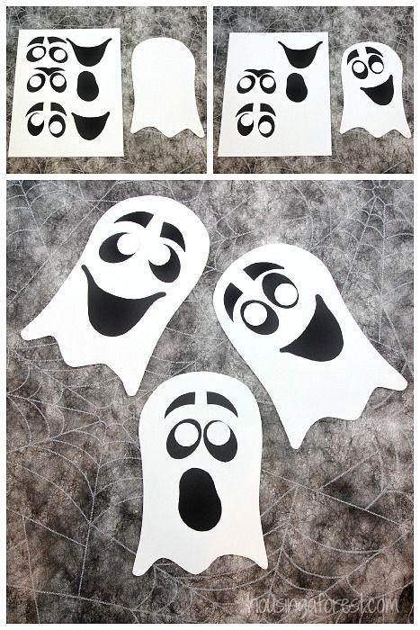 Ghost Craft For Kids Easy Halloween Craft With Printable Pdf Halloween Preschool Ghost Crafts Halloween Crafts