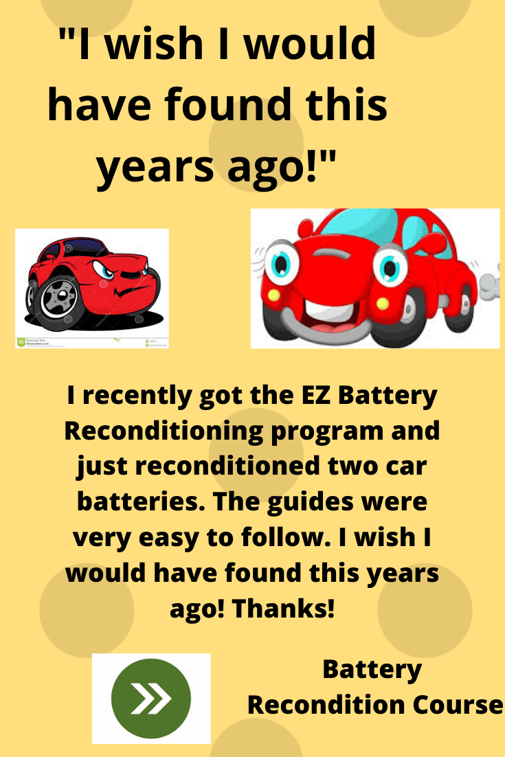 Battery Recondition Course Deep Cycle Battery Batteries Battery