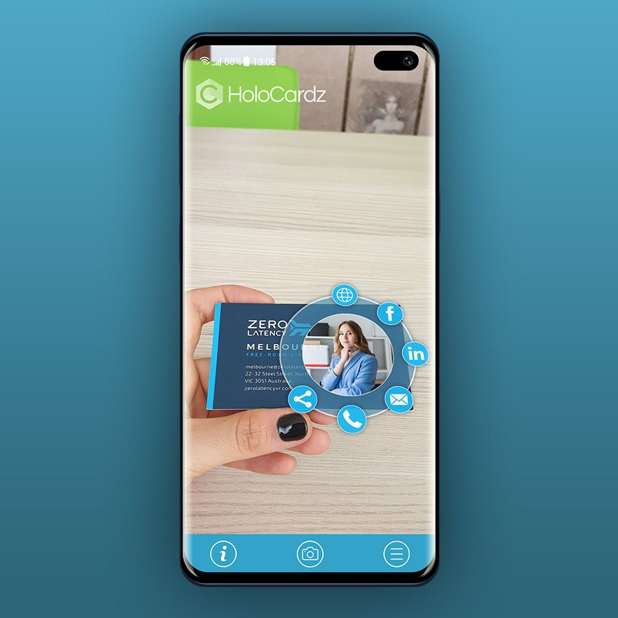 Augmented Reality Business Card By Holocardz Augmented Reality Augmented Reality Technology Business Cards