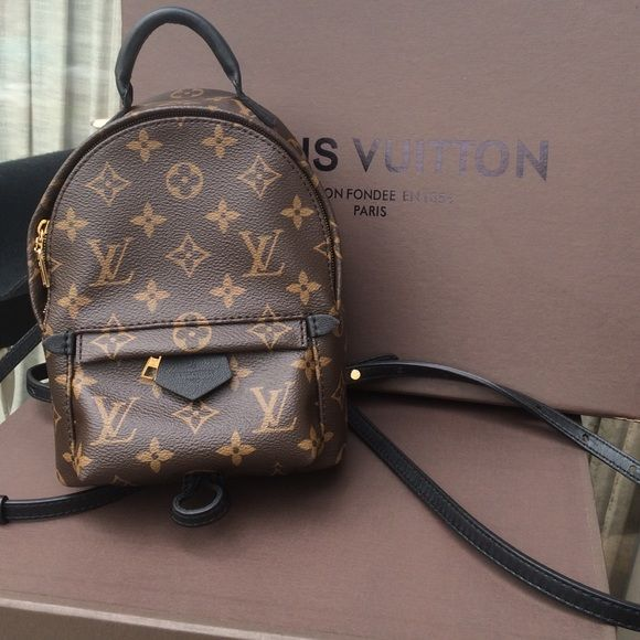 2ee51add89a Authentic LV Palm Springs Mini Back Pack This item is sold out in USA I  have all the items that came with it plus poshmark can verify--on eBay  people are ...