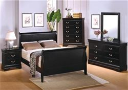 Louis Philippe 6 Piece Bedroom Set In Black Finish By Coaster