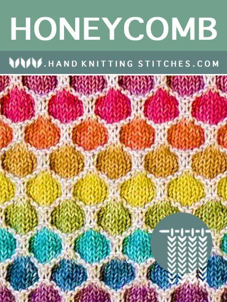 The Art of Hand Knitting - Honeycomb Slip Stitch Pattern # ...