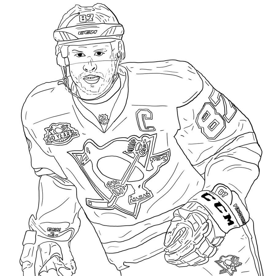 Pin By Tomasz Rypysc On Hockey Crosby Coloring Pages Sidney Crosby