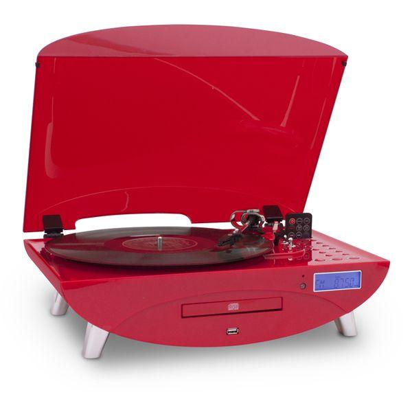 BigBen TD97 in Rot, Plattenspieler mit CD,Radio und USB-Funktion, LCD-Anzeige | eBay