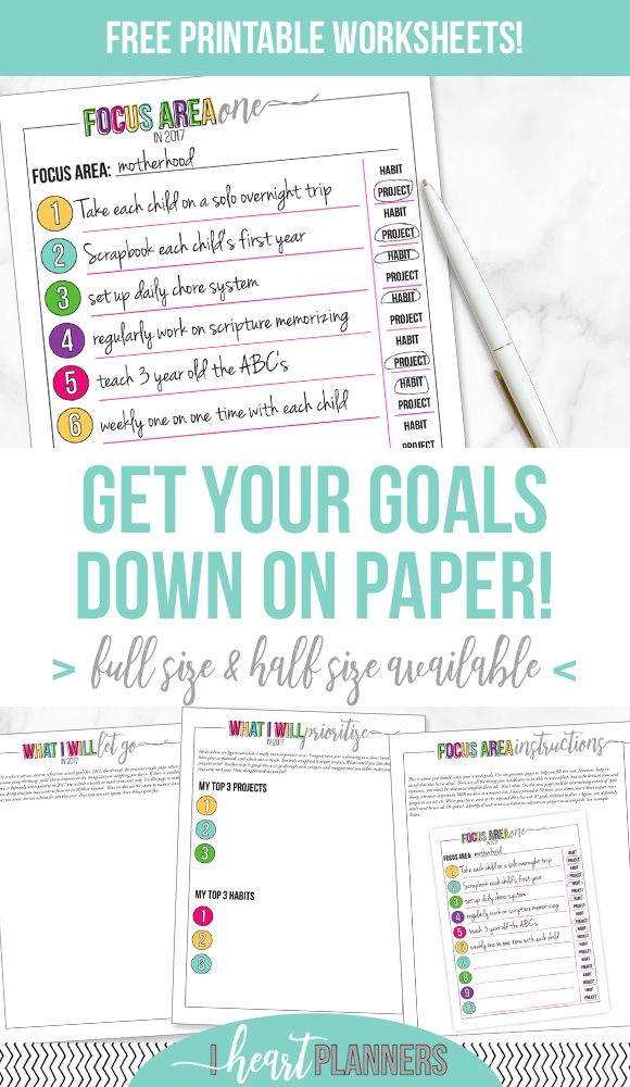 Goal Setting Process - Part 2 Free printable worksheets, Printable - Free Fitness Journal Printable
