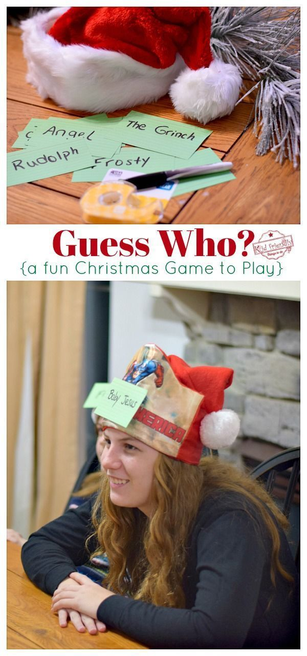 Photo of This Christmas Game is a fun game to play with the whole family that takes very …