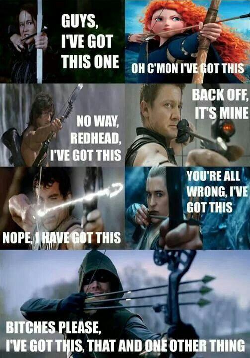 I don't know Hawkeye is pretty badass.