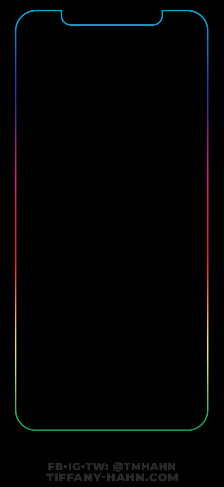 Iphone Xs Max Wallpaper Rainbow Outline V02 Iphone Homescreen Wallpaper Iphone Lockscreen Iphone Wallpaper