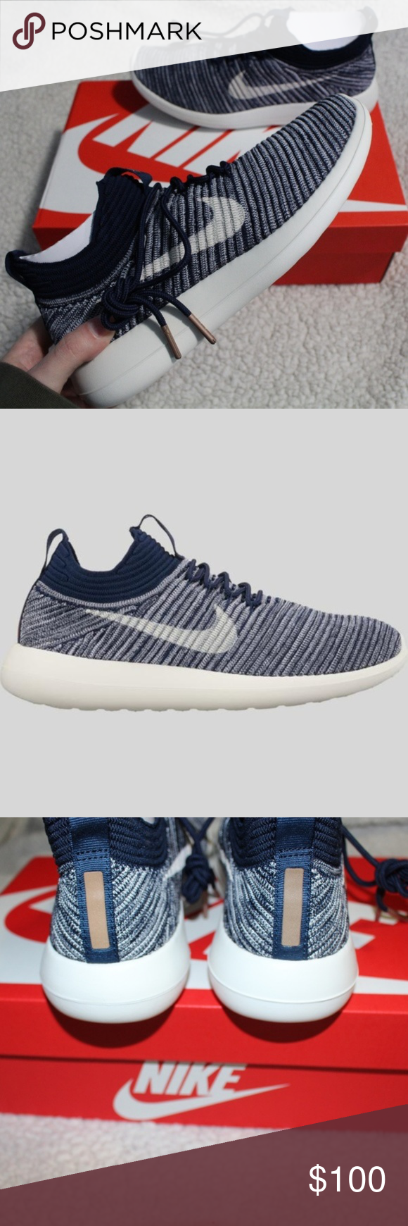 f2c39f4d1be6 NEW Nike Women s Roshe Two Flyknit V2 Sneakers Selling brand new with box  no lid Nike