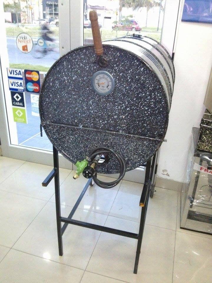 Horno tambor a gas el mejor del mercado 100 enlozado - Parrillas y hornos a lena ...
