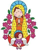 Virgen De Guadalupe Moderna Dibujos A Color Virgen De Guadalupe