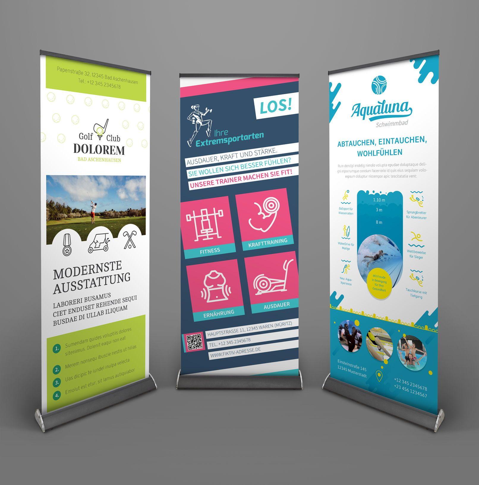 Roll Up Design Gestalten Vorlagen Herunterladen Visitenkarten Flyer Powerpoint Prasentation