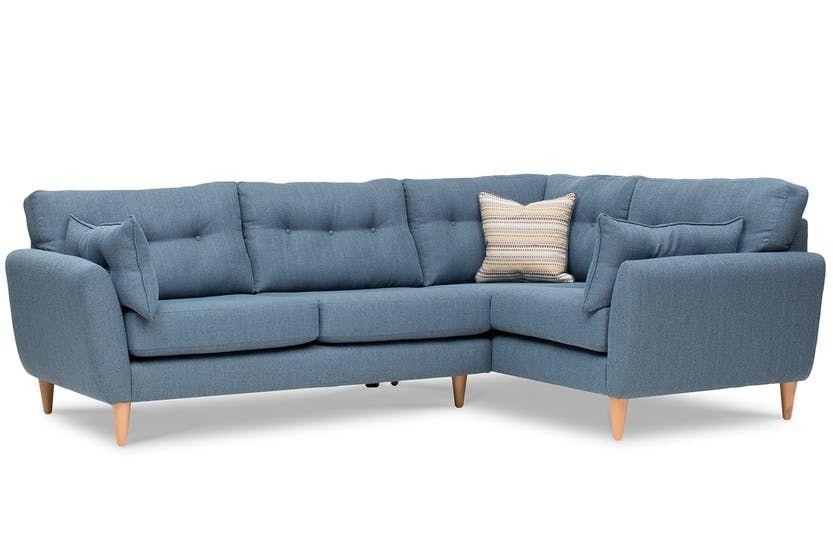 Charm Corner Sofa Blue Corner Couch Corner Sofa Leather Corner Sofa