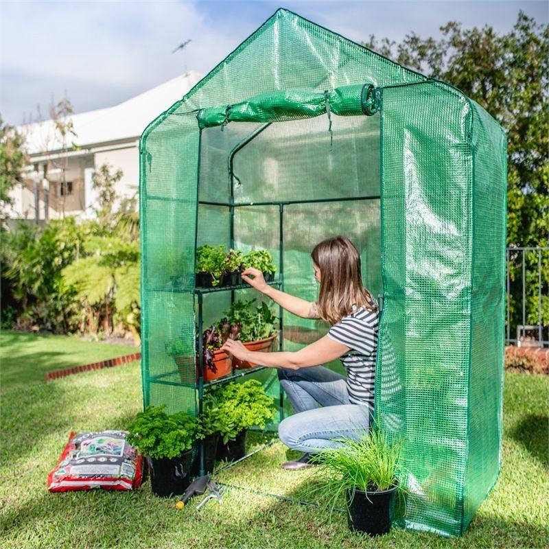 Holman walk in greenhouse with misting kit walk in