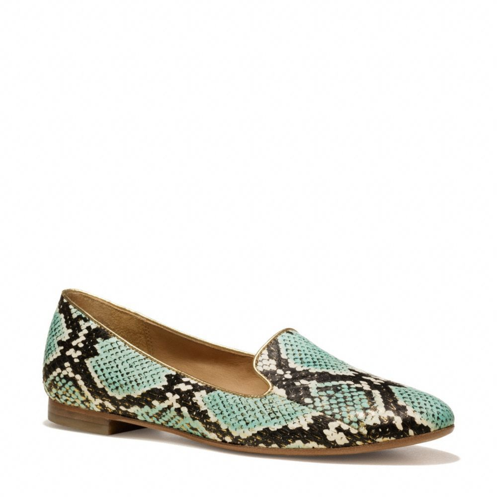 Matches one of my snakeskin bags PERFECTLY! The Catrin Flat from Coach